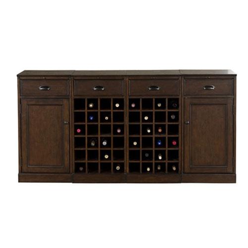 American Heritage Billiards Natalia Navajo Modular Wine Cabinet, 4 Piece Set