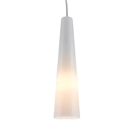 Nina Anodized Aluminum One-Light Mini Pendant with White Glass