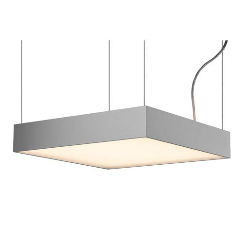 Molto Luce Cadan Matte Chrome 18-Inch LED Pendant