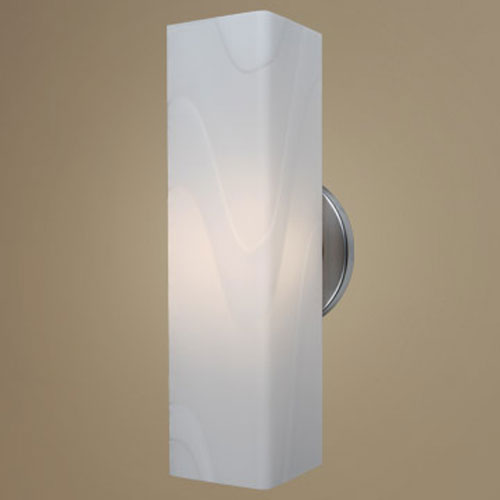 Houston Matte Chrome One-Light Wall Sconce with White Glass