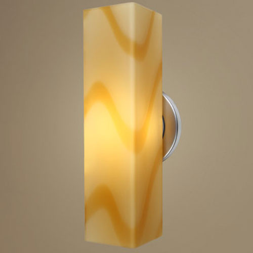 Bruck Lighting Systems Houston One-Light Wall Sconce with Vanilla Glass