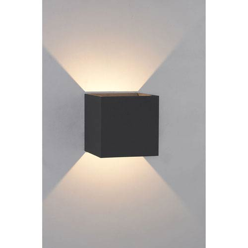 Bruck lighting systems qb anthracite 5 inch wall sconce 105040bk bruck lighting systems qb anthracite 5 inch wall sconce aloadofball Images