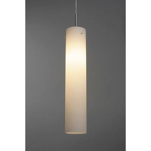 Bruck Lighting Systems An Matte Chrome One Light Line Voltage Mini Pendant With White