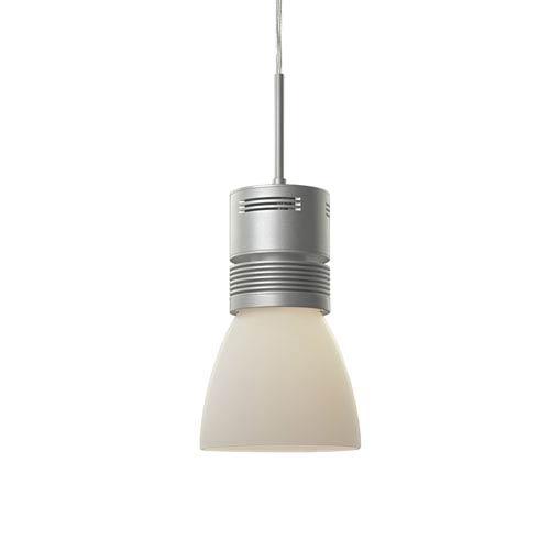 Bruck Lighting Systems Z15 Matte Chrome 1600 Lumen LED Pendant with White Shade