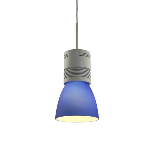 Bruck Lighting Systems Z15 White 1600 Lumen LED Pendant with Blue Shade