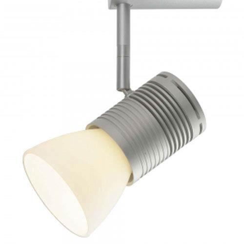 Chroma Matte Chrome One-Light LED Z10 Canopy Spotlight with White Glass