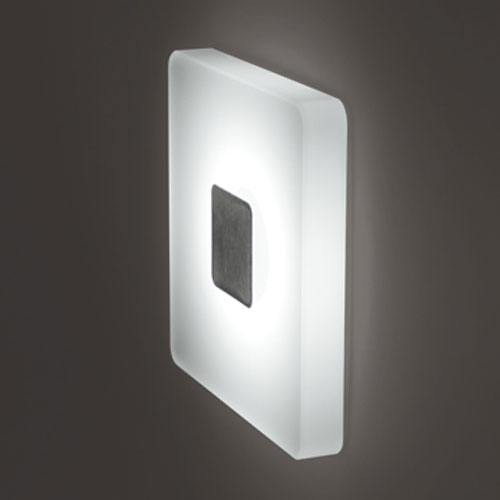 Ledra Ice Matte Chrome Square White LED Wall Sconce