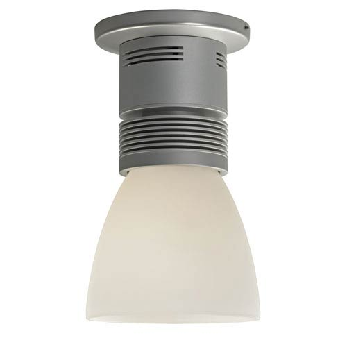 Bruck Lighting Systems Z15 Matte Chrome 1600 Lumen LED Surface Mount with White Shade