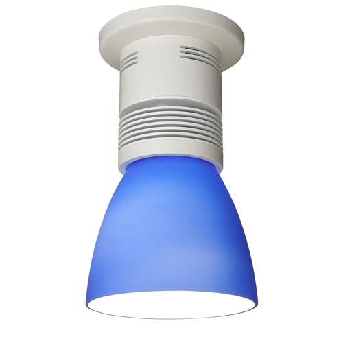 Bruck Lighting Systems Z15 White 1100 Lumen LED Surface Mount with Blue Shade