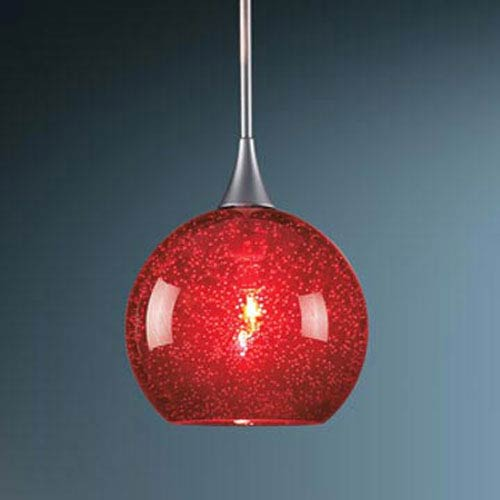 Bobo Chrome Mini Pendant with Red Glass