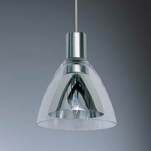 Canto Chrome Mini Pendant with Interior Metal Shade