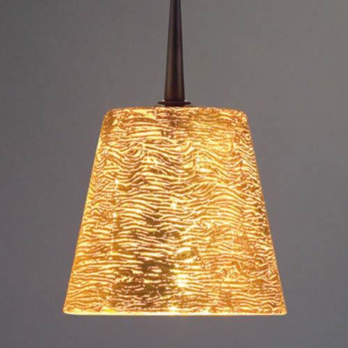 Bling I Bronze Uni Plug Pendant with Gold Glass