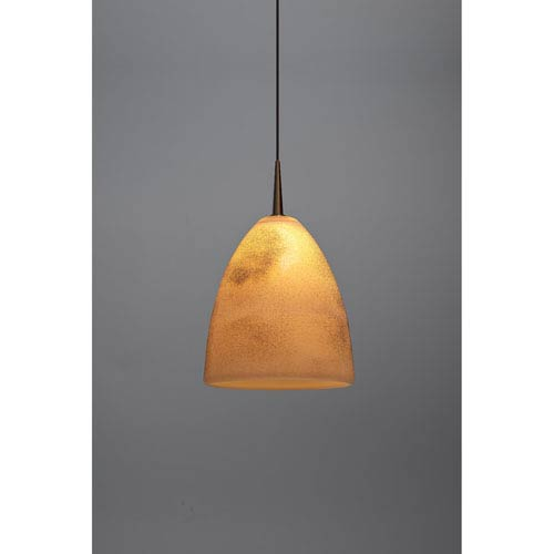 Alexander Bronze One-Light Low Voltage Mini Pendant with Creme Glass