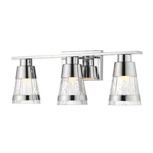 Ethos Chrome Three-Light LED Bath Vanity