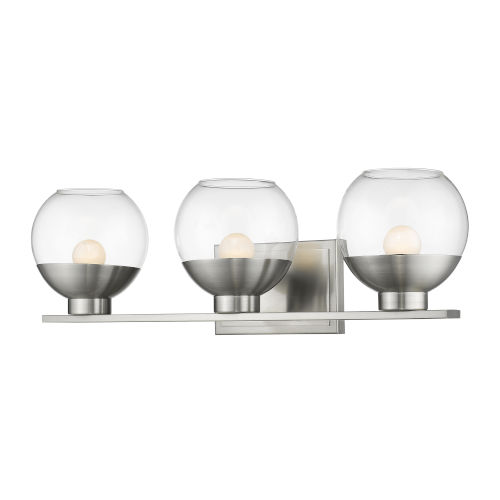 Osono Brushed Nickel Three-Light LED Bath Vanity