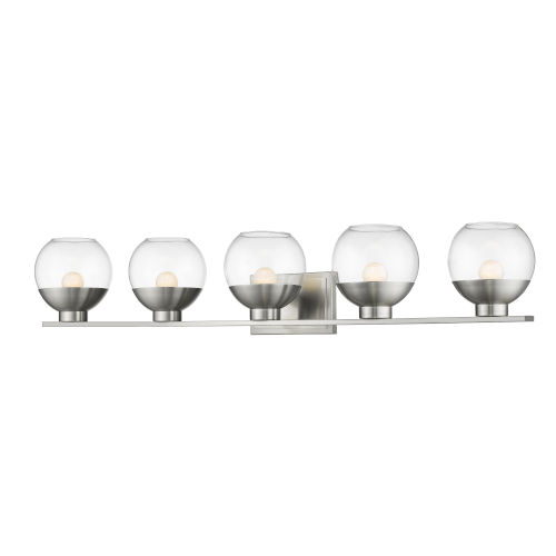 Osono Brushed Nickel Five-Light LED Bath Vanity