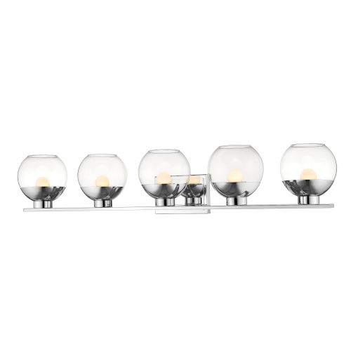 Osono Chrome Five-Light LED Bath Vanity