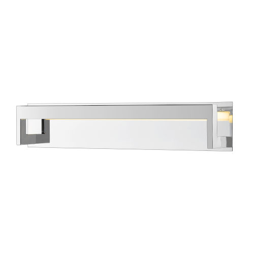 Linc Chrome 26-Inch LED Bath Vanity with Frosted Glass