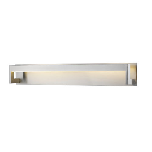 Linc Brushed Nickel 37-Inch LED Bath Vanity with Frosted Glass