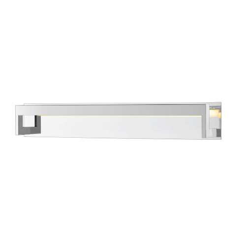 Linc Chrome 37-Inch LED Bath Vanity with Frosted Glass