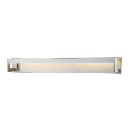 Linc Brushed Nickel 48-Inch LED Bath Vanity with Frosted Glass