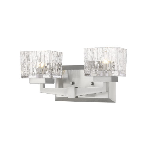 Rubicon Brushed Nickel Two-Light LED Bath Vanity