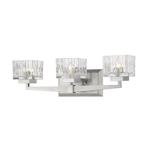 Rubicon Brushed Nickel Three-Light LED Bath Vanity