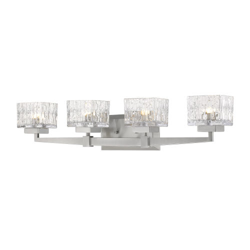 Rubicon Brushed Nickel Four-Light LED Bath Vanity