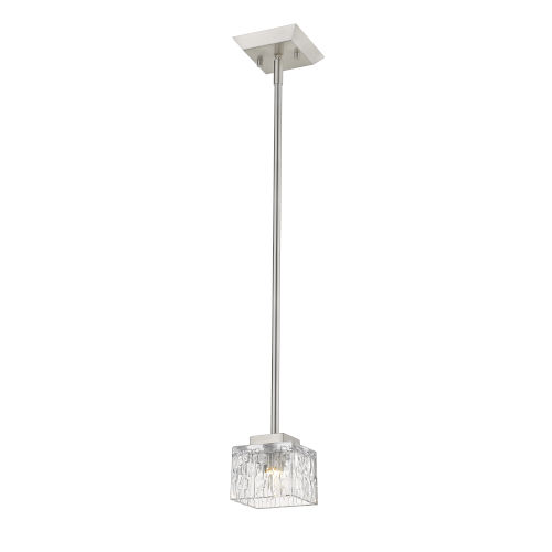 Rubicon Brushed Nickel One-Light LED Mini Pendant