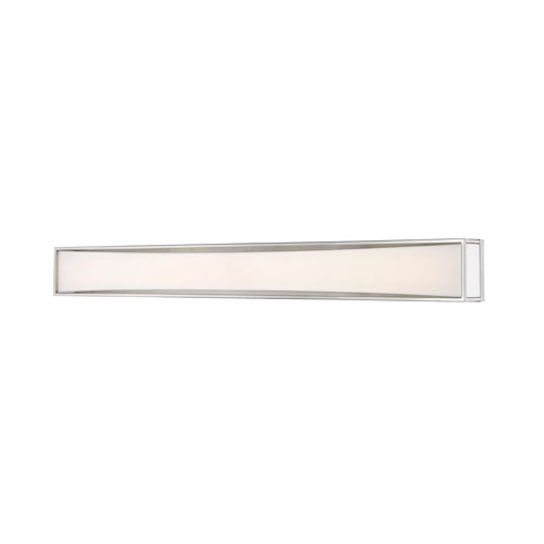 Baden Brushed Nickel 46-Inch Two-Light LED Bath Vanity