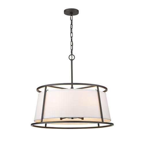 Lenyx Pendant Iron Ore Six-Light Pendant