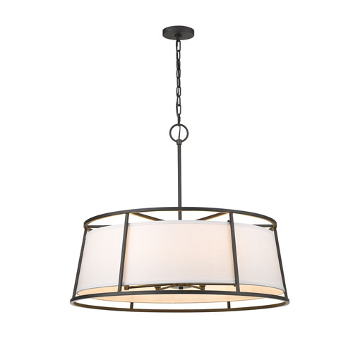 Lenyx Pendant Iron Ore Eight-Light Pendant