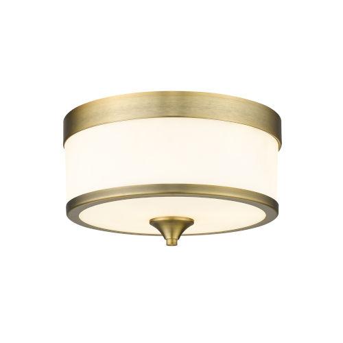 Cosmopolitan Heritage Brass Three-Light Flush Mount