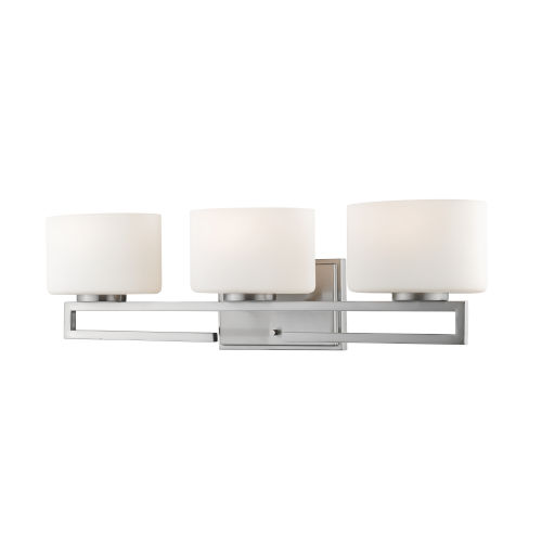 Privet Brushed Nickel Three-Light LED Bath Vanity
