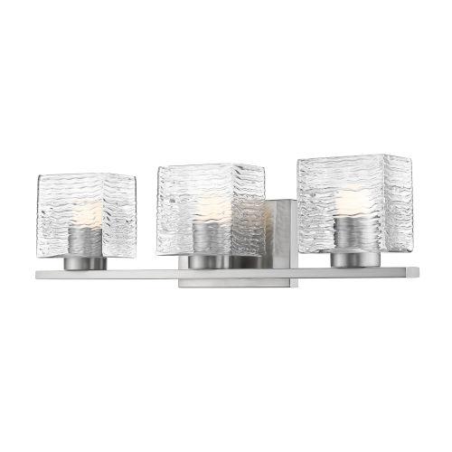 Barrett Brushed Nickel Three-Light LED Bath Vanity
