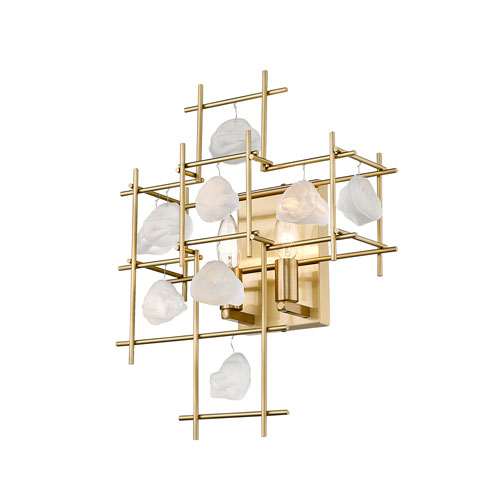 Garroway Aged Brass Two-Light Wall Sconce