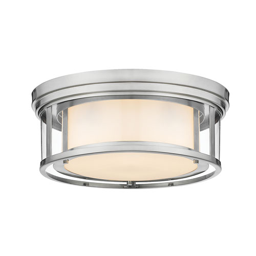 Willow Brushed Nickel Three-Light Flush Mount