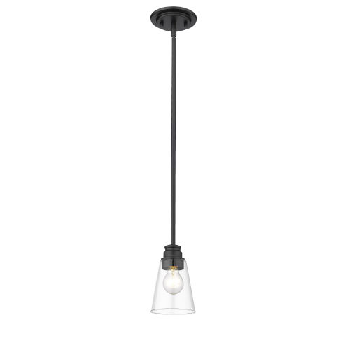 Annora Matte Black One-Light Mini Pendant