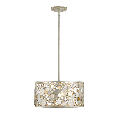 Ariell Antique Silver Five-Light Pendant