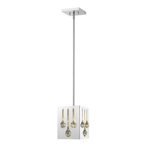Oberon Chrome One-Light Mini Pendant