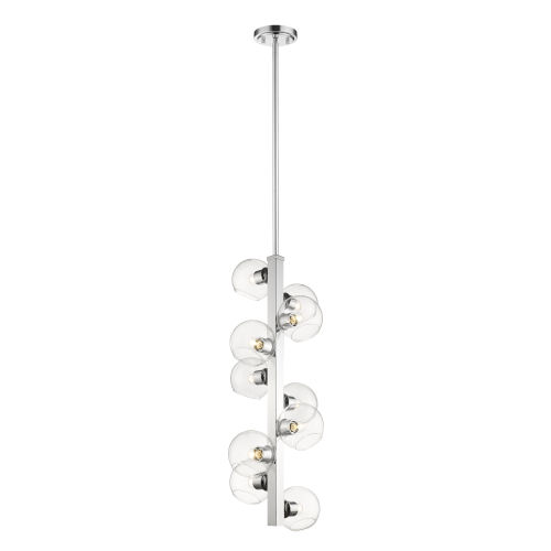 Marquee Chrome 10-Light Pendant with Clear Glass