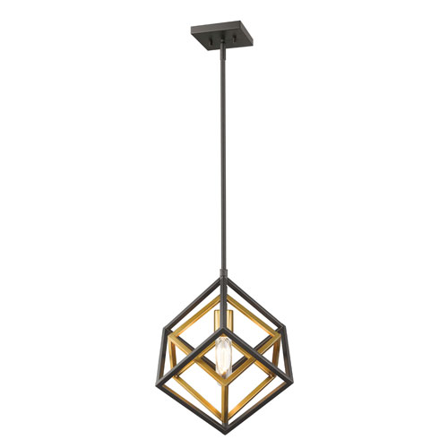 Euclid Olde Brass and Bronze One-Light Pendant