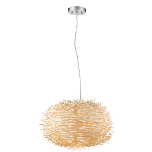 Sora Brushed Nickel Five-Light Pendant