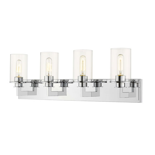 Savannah Chrome Four-Light Bath Vanity
