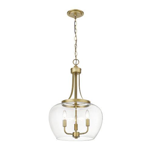 Joliet Olde Brass Three-Light Pendant