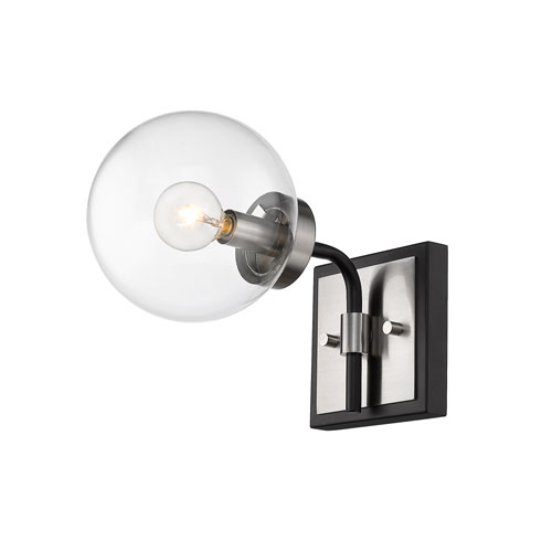 Parsons Matte Black and Brushed Nickel One-Light Wall Sconce