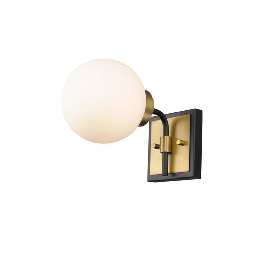 Parsons Matte Black and Olde Brass One-Light Wall Sconce