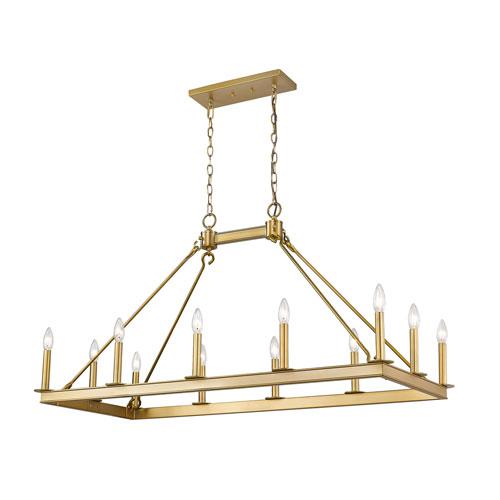 Barclay Olde Brass 12-Light Island Chandelier