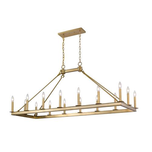 Barclay Olde Brass 16-Light Island Chandelier