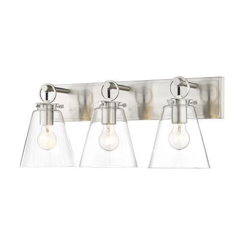 Harper Brushed Nickel Three-Light Bath Vanity